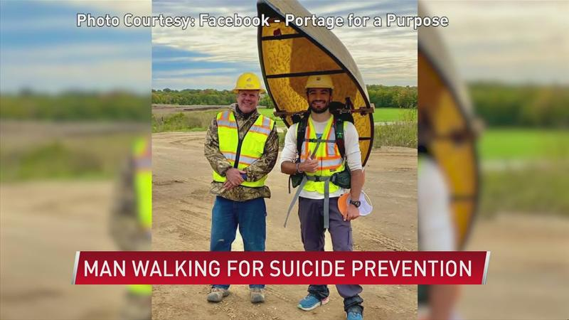 Rochester man portaging for suicide prevention