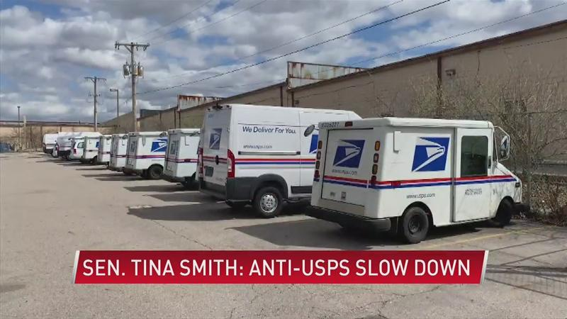 As mail delays increase, Sen. Tina Smith joins other lawmakers in speaking out
