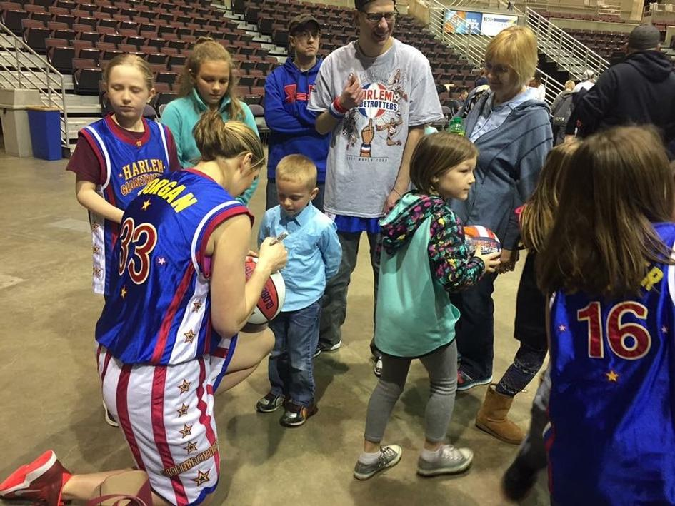 After her big Harlem Globetrotters debut