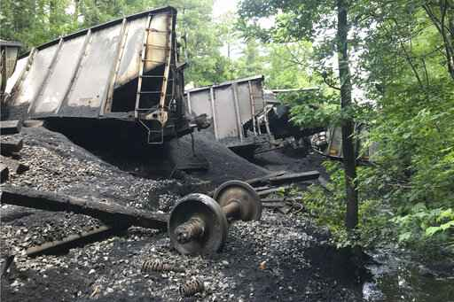 Coal train derails into Great Dismal Swamp wildlife refuge