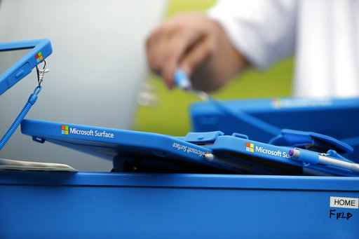 Microsoft profit up, aided by cloud rivalry with Amazon