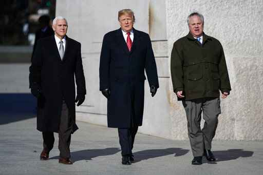 Donald Trump, Mike Pence, David Bernhardt