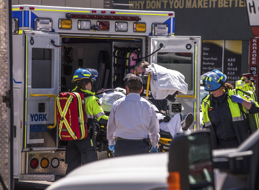 The Latest: Toronto police say 9 dead, 16 injured by van