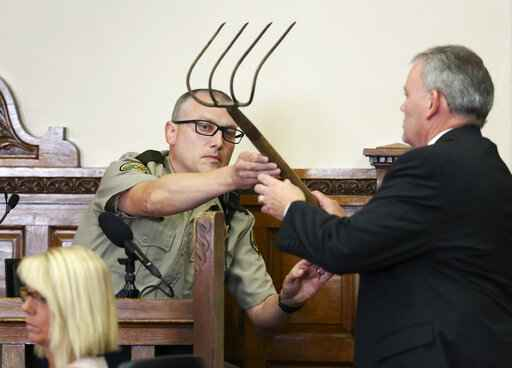 Iowa man accused in corn rake killing testifies: I didn't do it