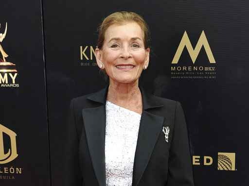 FILE - Judge Judy Sheindlin arrives at the 46th annual Daytime Emmy Awards in Pasadena, Calif., on May 5, 2019. Sheindlin, whose long-running syndicated courtroom show
