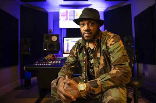 Rapper Mystikal poses for a portrait in Baton Rouge, La. on Jan. 22, 2021. Mystikal, whose birth name is Michael Lawrence Tyler, plans to start work on a live instrumentation project. (AP Photo/Rusty Costanza)