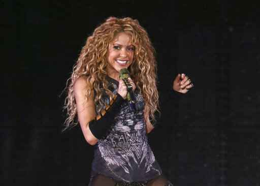 FILE - This Aug. 10, 2018 file photo shows Shakira performing in concert at Madison Square Garden in New York. The Board of Hipgnosis Songs Fund Limited, a U.K.-based investment company, has acquired 100% of Grammy-winning superstar Shakira's music publishing rights. Hipgnosis made the announcement Wednesday. Shakira's catalog includes 145 songs, including