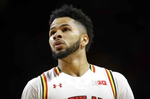FILE - In this Wednesday, Feb. 22, 2017, file photo, Maryland guard Jaylen Brantley walks on the court in the second half of an NCAA college basketball game against Minnesota, in College Park, Md. A federal judge has dismissed a lawsuit in which two former University of Maryland men's basketball players accused makers of the