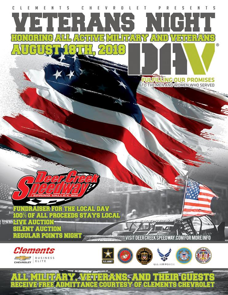 Veterans Night at Deer Creek Speedway
