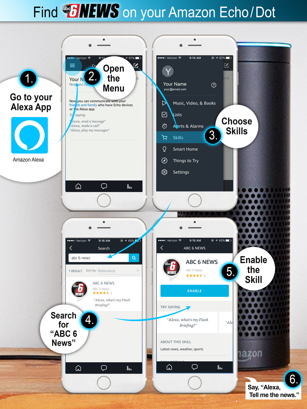 Amazon Alexa Instructions