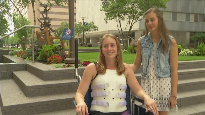 Amber KohnHors, a Mayo Clinic nurse, is recovering after falling 100 feet from a cliff 3 months ago.