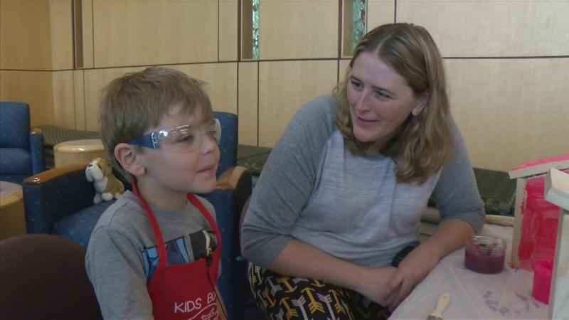 Young Mayo Clinic Patients Build Memories Through Woodworking