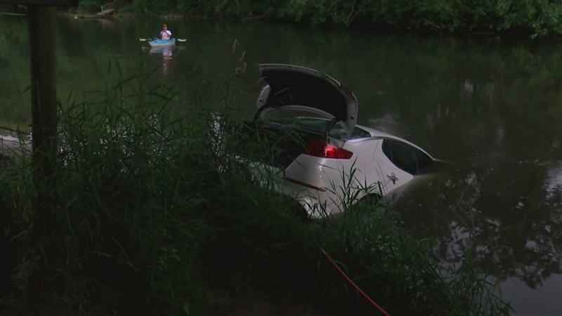 Dive Team Pulls Car Out of Ramsey Mill Pond