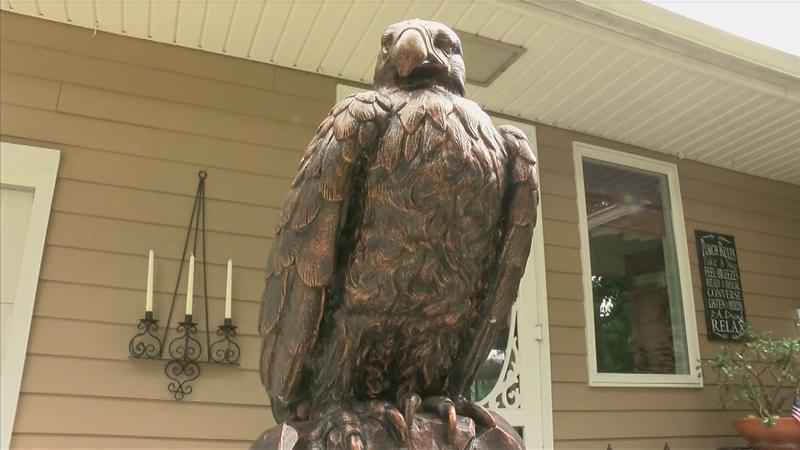 Austin Veteran Reunited with Missing Eagle Statue Commemorating Service
