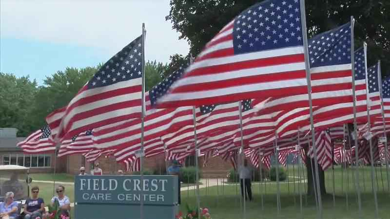 Field of Flags Honors Loved Ones in Hayfield