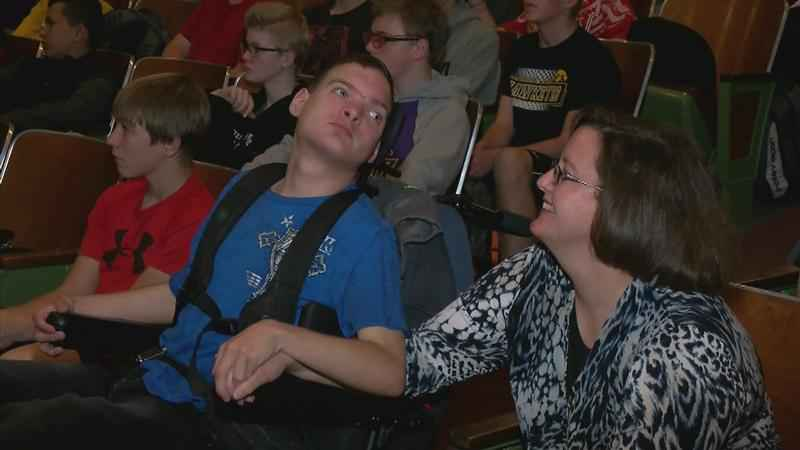 Motivational Speaker Gives Voice to Nonverbal Teen