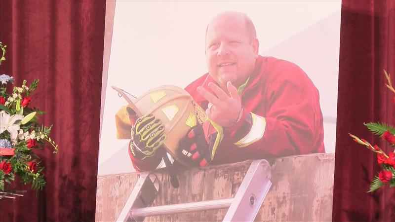 Memorial Service Honors Firefighter Who Died of Cancer