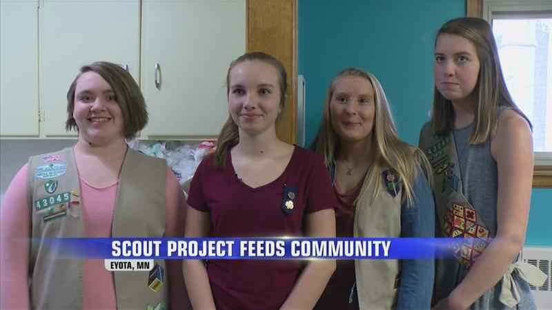 'My Heart is Full:' Girl Scout Project Feeds Less Fortunate in Eyota