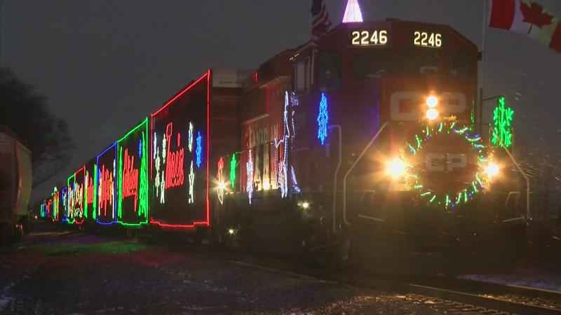 Canadian Pacific Holiday Train Stops in Austin