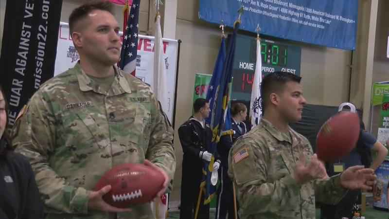 Local Vets Play in Celebrity Flag Football Challenge