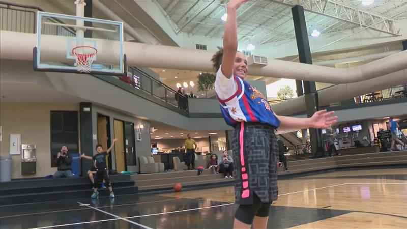 Local Girl Might Have a Future as a Harlem Globetrotter