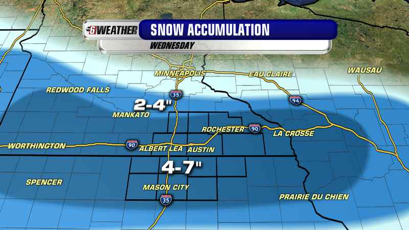 More snow: winter storm watch issued for Wednesday