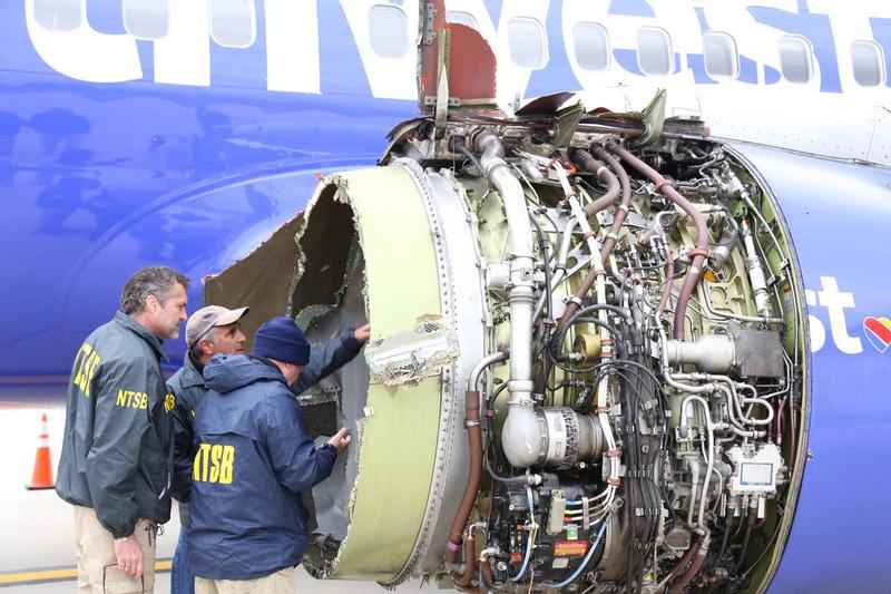 US regulators to require inspections after Southwest engine explosion