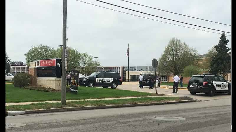 'All clear' given at John Marshall HS after reported bomb threat