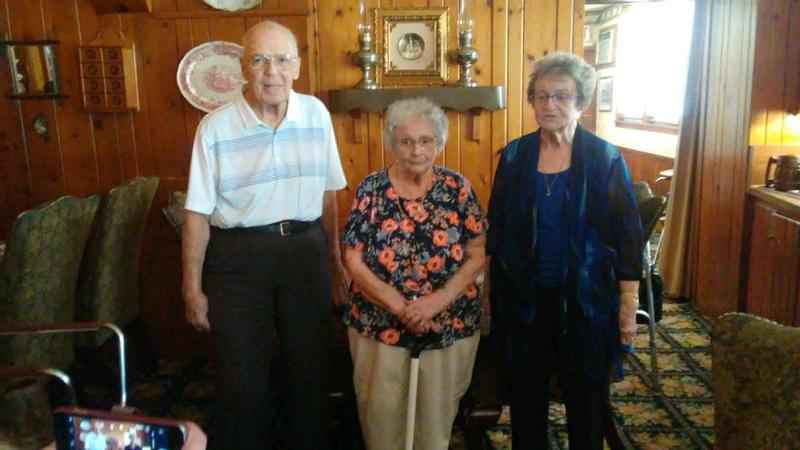 Burton Iverson of Pittsville, Adell (Fenne) Jenness and Lou Ann (Rossi) Maxson.
