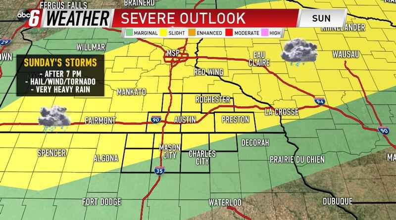 Strong  Severe Storms Sunday