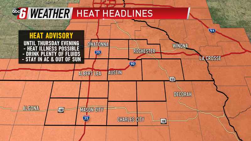 Thursday Heat Advisory
