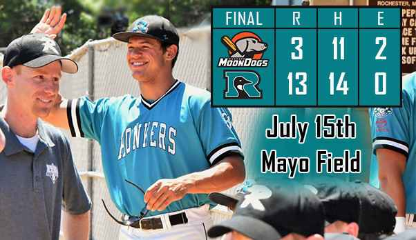Robinson Hits Two Home Runs to Lead Honkers Past MoonDogs