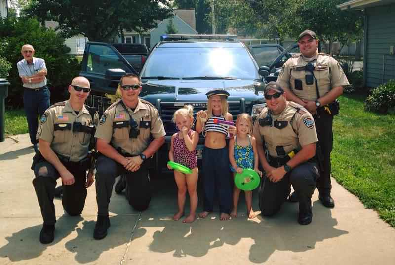 Sheriff's Deputies Add Extra Excitement to Girl's Birthday Party