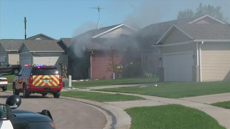 Car Catches Garage On Fire In Rochester