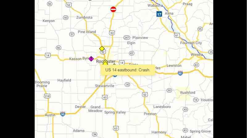 Hwy 14 East Near Byron Closed Due to Crash