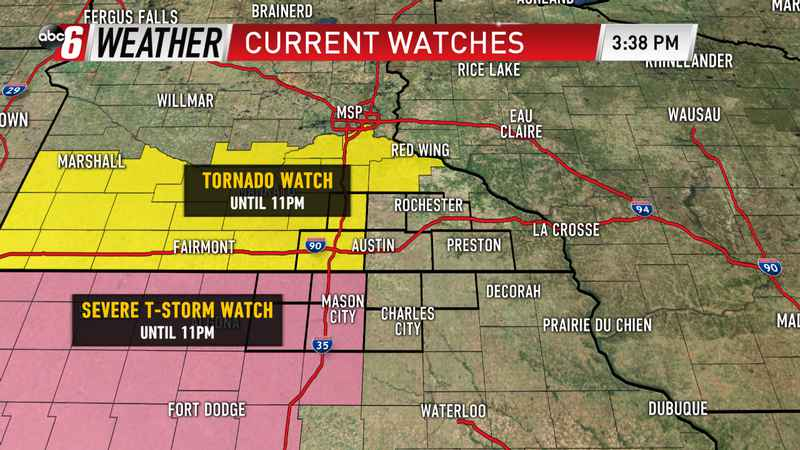 Tornado and Severe T-Storm Watches Until 11pm