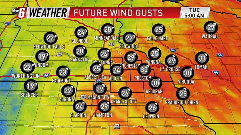 Brisk Wind into Tuesday
