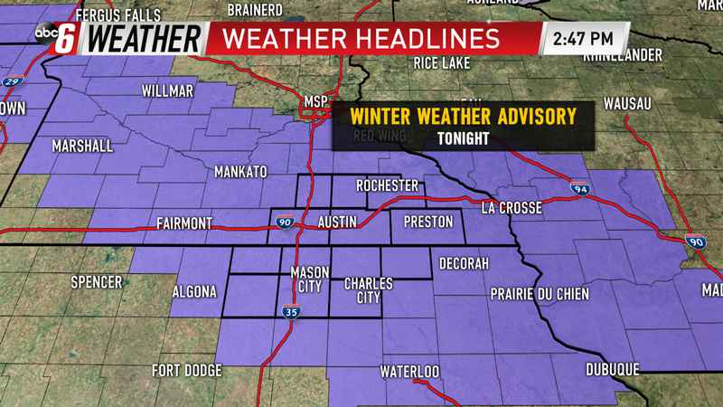 Winter Weather Advisory Expands