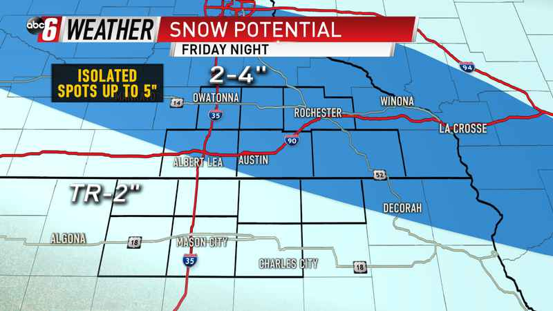 Friday Night Snow Forecast