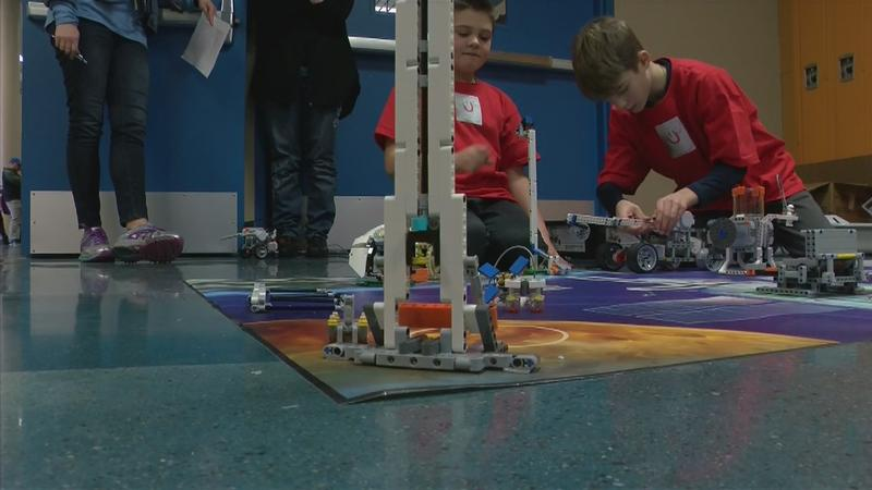 Lego Tournament Draws Hundreds of Kids to a Rochester Middle School