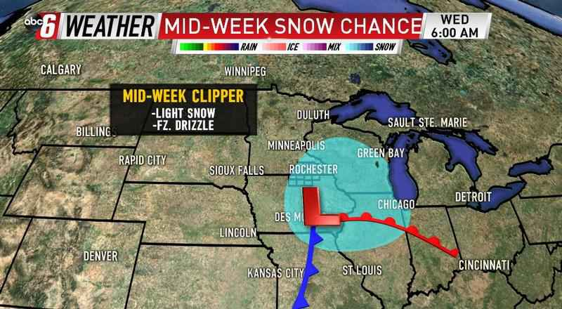 Mid-Week Snow Chance