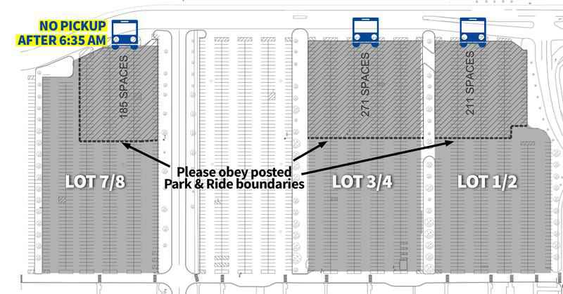 IBM Park & Ride Schedule Changes
