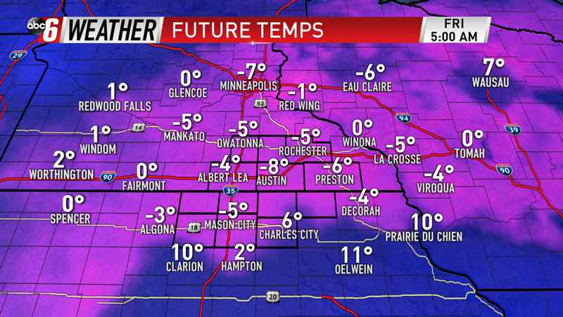 Coldest Arrives Thursday Night