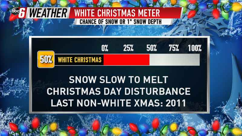 White Christmas Chances Improving
