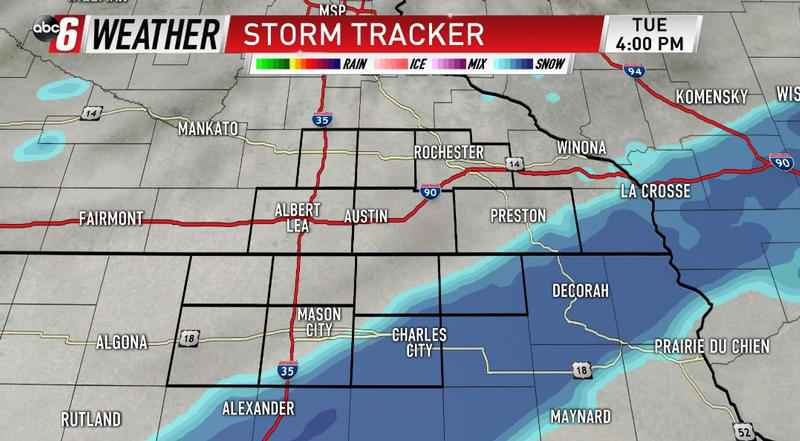 Accumulating Snow For Tuesday Afternoon & Evening
