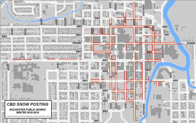 No Parking Issued for Downtown Rochester for Snow Removal
