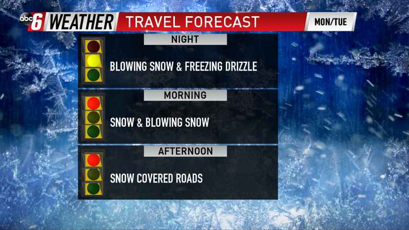 Tuesday Snow Impacts