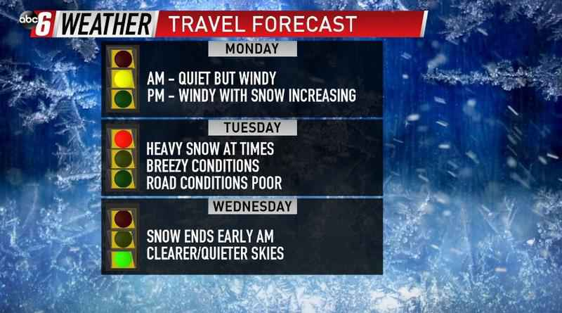 Expect Travel Delays for Tuesday