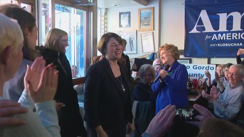 Klobuchar Campaigning in Iowa