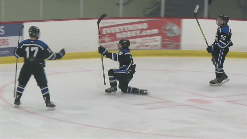 Owatonna Edges Century in Playoff Hockey Double Overtime Thriller